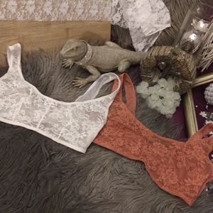 VS Floral Lace Scoopneck Bralettes